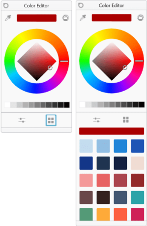 Show/hide swatches in Sketchbook for Windows Tablet