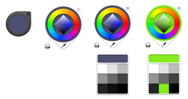Color Puck stages