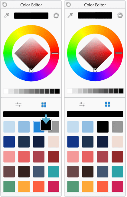 Adding a swatch to the Swatches panel in Sketchbook Pro Windows Tablet