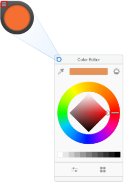 The Color Puck in Sketchbook for Windows 10