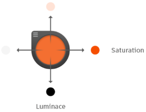 Color Puck - changing saturation and luninance