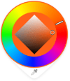 Color Wheel when accessed from the Color Puck in Sketchbook