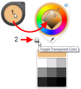 Color Puck with Color Wheel open