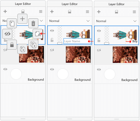 Renaming a layer