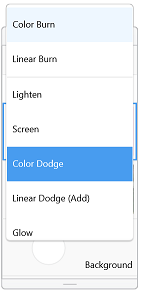 Layer Blend Mode menu in Sketchbook