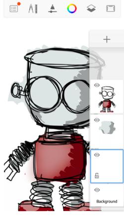 Locking transparency in Sketchbook for mobile part 1