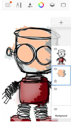 Locking transparency in Sketchbook for mobile part 3