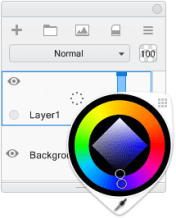 Changing the background layer color in Sketchbook Pro
