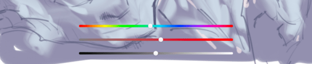 Color adjustments with HSL Adjustment in Sketchbook for mobile