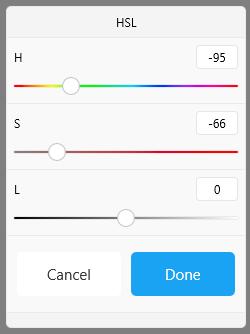 HSL adjustment in Sketchbook for Windows 10