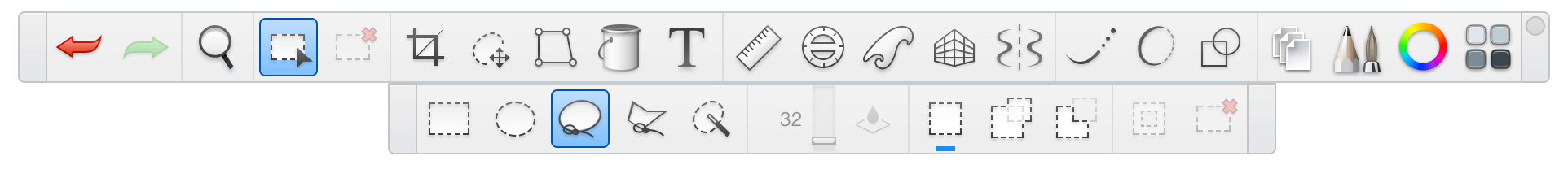 Select in Sketchbook Pro