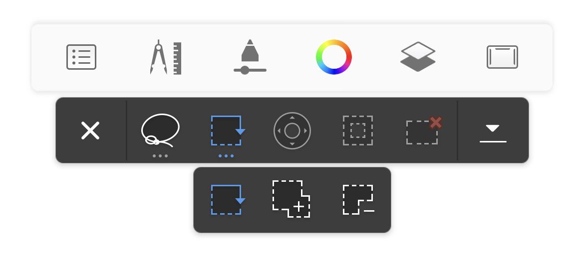 Select in Sketchbook for mobile devices
