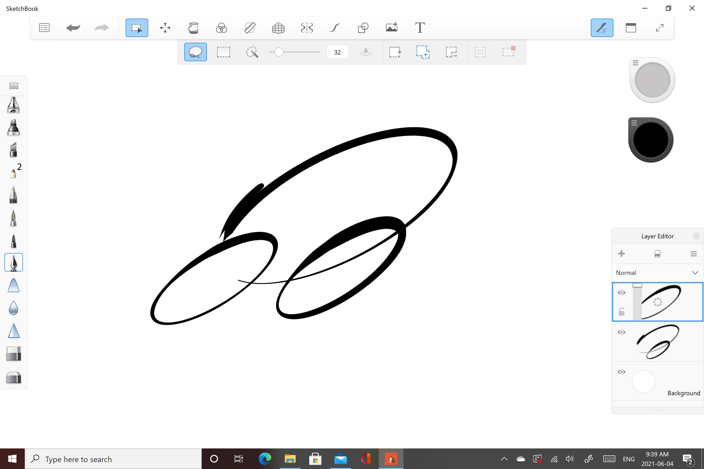 Select in Sketchbook for Windows 10