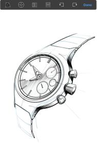 Image in Sketchbook in Transform mode