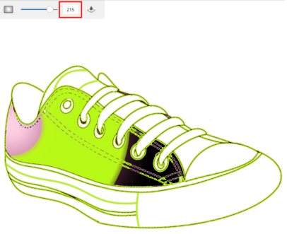 Fill tolerance color example 3