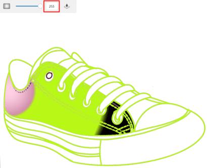 Fill tolerance color example 4 for Sketchbook