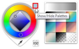 Show/Hide Palettes