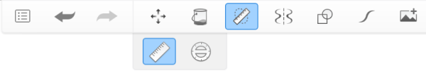 Toolbar showing Guides with Ruler
