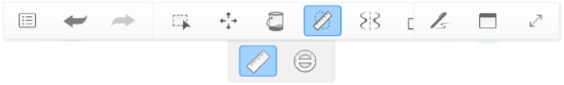 Toolbar with Guides active, but not Symmetry