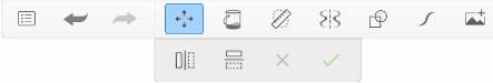 Transform secondary toolbar