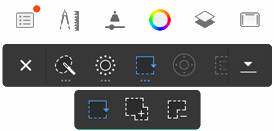 Selection editing tools in Sketchbook for mobile