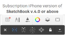 iPhone sub menu for Symmetry