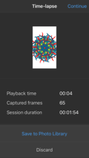 The Time-lapse tool in the mobile version of Sketchbook
