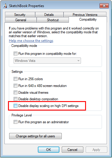 Navigate to the Compatibility tab