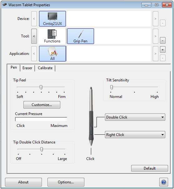 Wacom Tablet Properties: re-calibrating your stylus