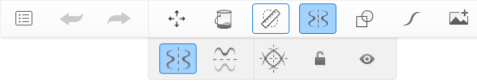 Toolbar showing Symmetry with Guides as secondary