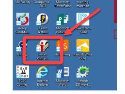 Install printer icon on the desktop