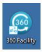 360Facility desktop icon - digits 360 on round blue background