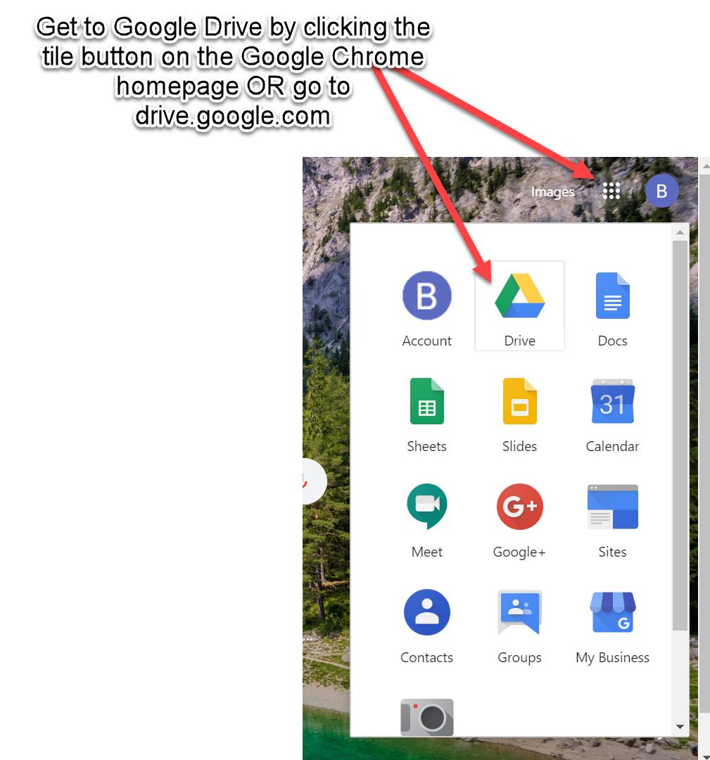 Google Drive location