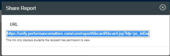 Share Report URL